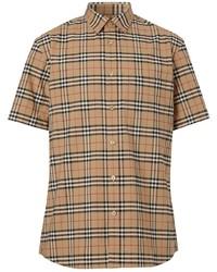 Burberry Check Print Short Sleeve Shirt