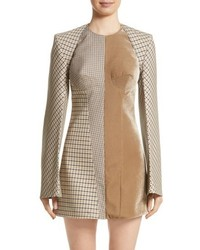 Stella McCartney Check Wool Blend Shrug