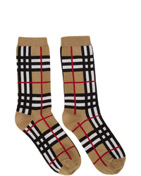 Burberry Beige Check Classic Socks