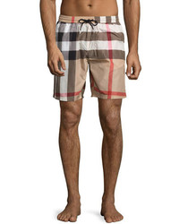 3d9038fa87c2a Men's Plaid Swim Shorts by Burberry | Men's Fashion | Lookastic.com
