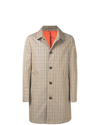 Calvin Klein Plaid Trench Coat