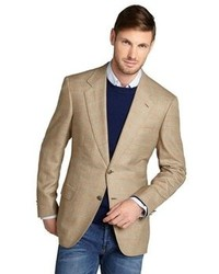 Tan Plaid Wool Blazer