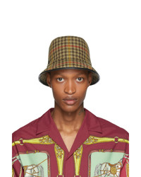 Gucci Beige Plaid Bucket Hat