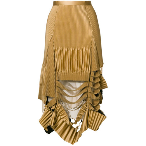 bce1ff10c9 Maison Margiela Deconstructed Pleated Skirt, $1,475   farfetch.com ...