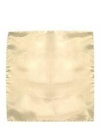 Beige silk pocket square medium 2266