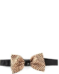 Tan Polka Dot Bow-tie