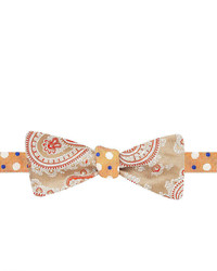 jcpenney Stafford Summerville Dotpaisley Reversible Self Tie Bow Tie
