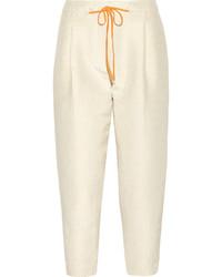 Tan Polka Dot Skinny Pants