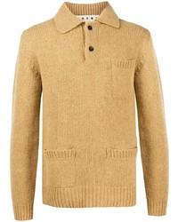 Marni Knitted Long Sleeve Polo Shirt