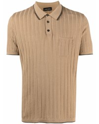 Roberto Collina Ribbed Knit Cotton Polo Shirt
