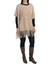 Eight Eight Eight Fringed Poncho Sweater