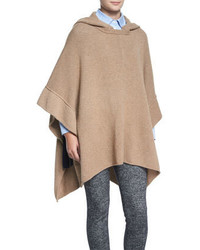 Fancy Stitch Knit Poncho Camel