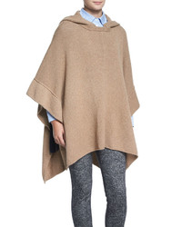 See by Chloe Fancy Stitch Knit Poncho Camel