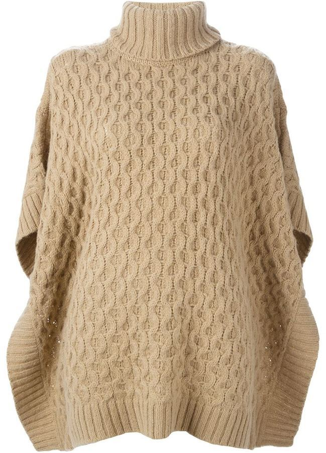 Michael Michael Kors Michl Michl Kors Cable Knit Poncho Sweater