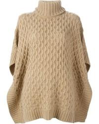 Michl michl kors cable knit poncho sweater medium 340280