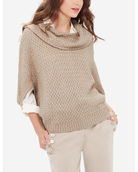The Limited Textured Cowl Neck Poncho