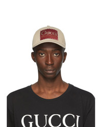 Gucci Beige Label Baseball Cap