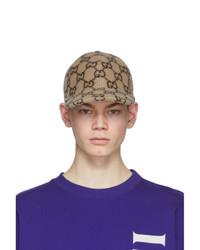 Gucci Beige Wool Gg Baseball Cap