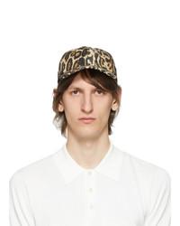 Dries Van Noten Black Leopard Cap