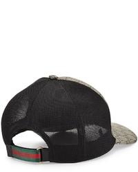 34283370ae2 ... Gucci Tigers Print Gg Supreme Baseball Hat Dark Brownblack ...