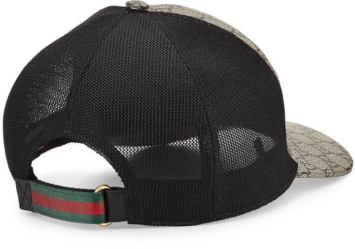 ae3f9335e3f Gucci Tigers Print Gg Supreme Baseball Hat Dark Brownblack