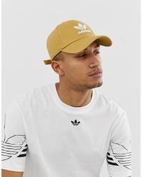 adidas Originals Trefoil Cap In Beige