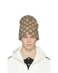 Gucci Beige Wool Gg Beanie