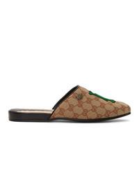 Gucci Beige La Dodgers Edition Flamel Patch Loafers