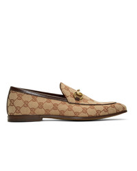Gucci Beige New Jordaan Loafers