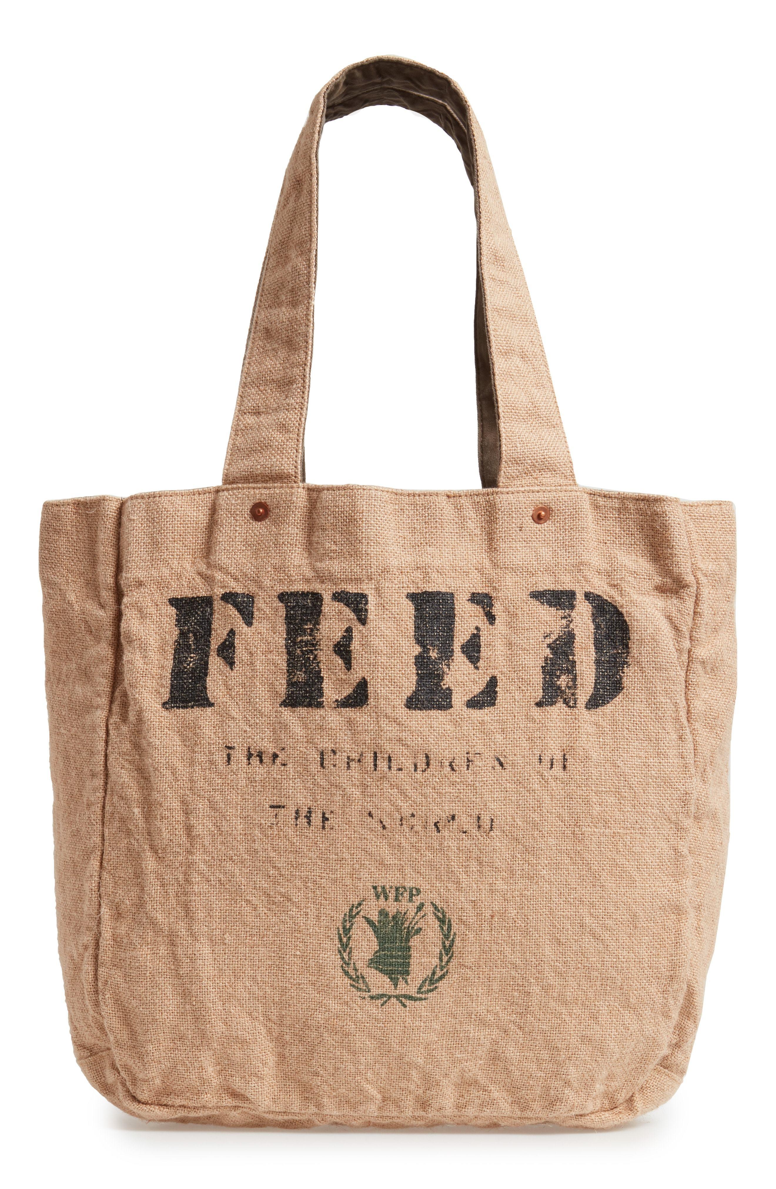b44ad53d8 FEED 1 Bag Burlap Tote, $98   Nordstrom   Lookastic.com