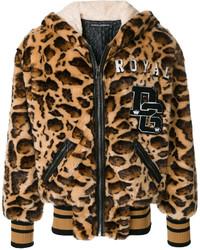 Dolce & Gabbana Leopard Print Hooded Coat