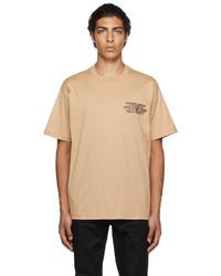 Burberry Beige Oversized Location Print T Shirt