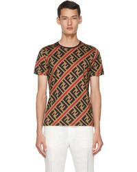 Fendi Brown Forever T Shirt