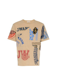 JW Anderson University And Embroidered Cotton T Shirt