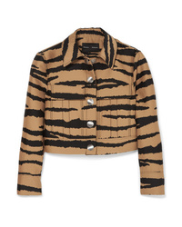Proenza Schouler Tiger Print Wool And Silk Blend Jacquard Jacket
