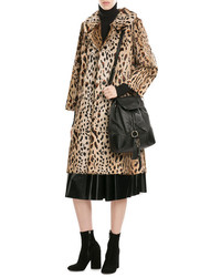 Anna Sui Animal Print Fur Coat