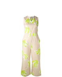 MSGM Banana Print Jumpsuit