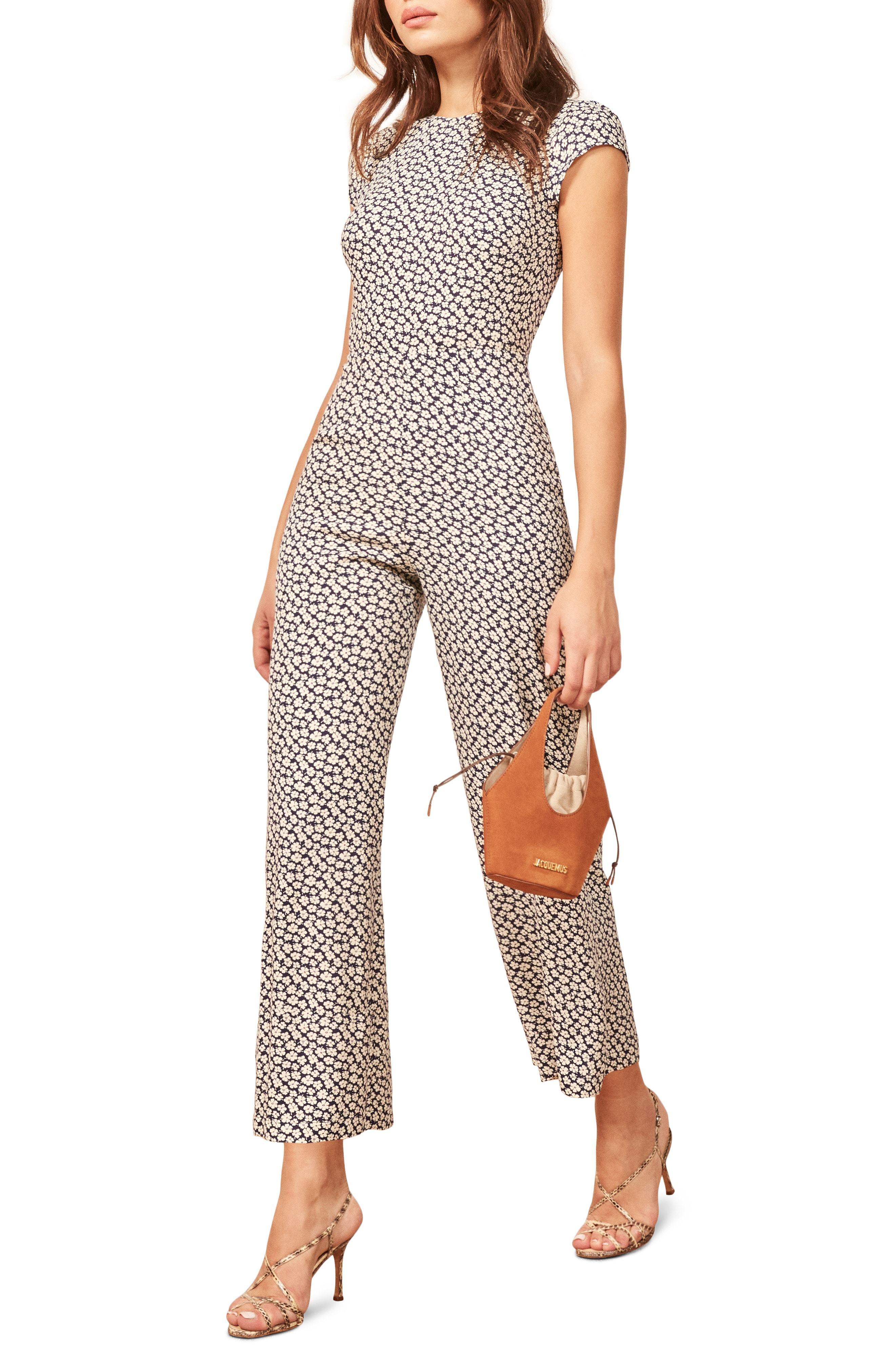 4d8c5c4f151 Mayer Jumpsuit. Tan Print Jumpsuit by Reformation · Buy ...