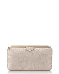 Jimmy Choo Ellipse Metallic Lace Clutch