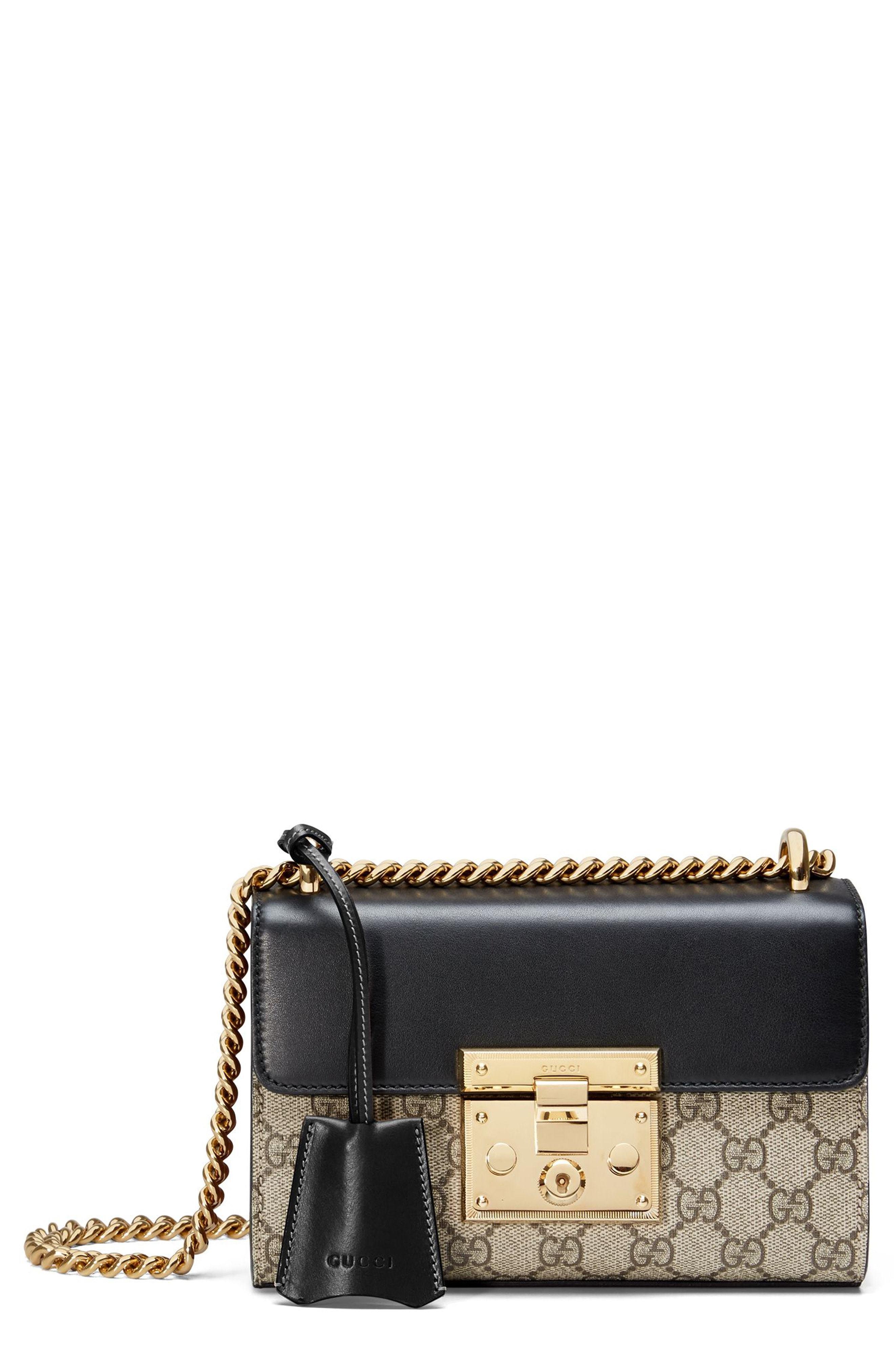 174176221189 Gucci Small Padlock Gg Supreme Canvas Leather Shoulder Bag, $1,750 ...