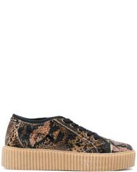 MM6 MAISON MARGIELA Snake Skin Print Platform Sneakers