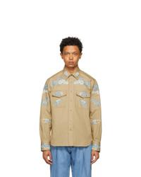 Lanvin Beige Embroidered Shirt