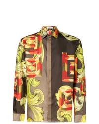 Versace Collection Printed Satin Shirt