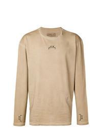 Tan Print Long Sleeve T-Shirt