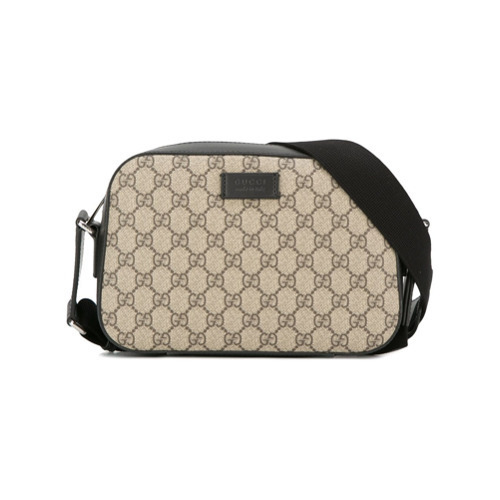 59f3f27ef14337 Gucci Gg Supreme Shoulder Bag, $802 | farfetch.com | Lookastic.com