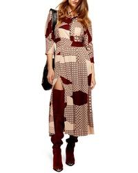 Topshop Tiled Maxi Dress