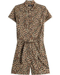 A.P.C. Cotton Animal Print Playsuit