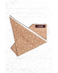 Tan Print Pocket Square