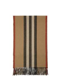 Burberry Beige Icon Stripe Scarf
