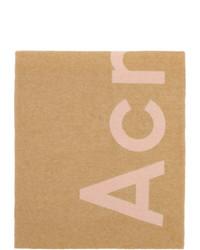 Acne Studios Pink And Beige Toronty Scarf